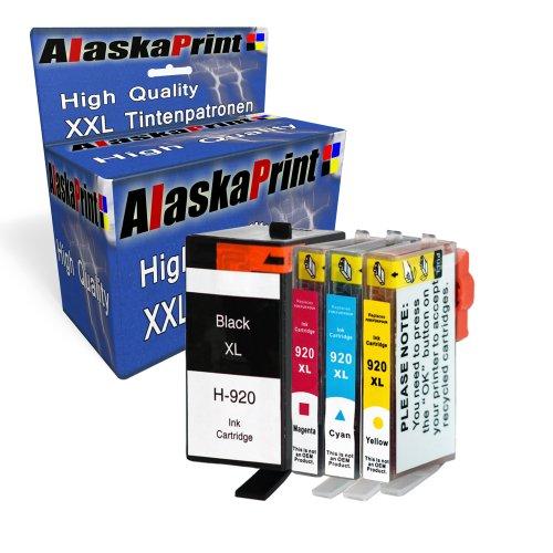 920 Cyan Officejet Ink (4X Druckerpatronen kompatibel für hp 920xl 920 XL für HP Officejet 6000 6500 7000 7500 7500A 6500A Plus E709 Tinte Drucker Patrone mit Chip und Füllstandsanzeige)