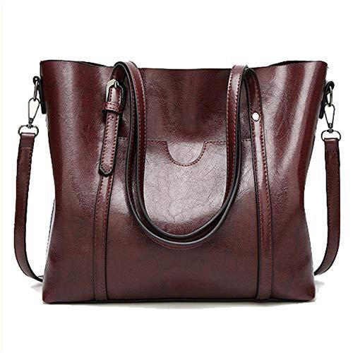 TnXan Damentasche Ölwachs Leder Umhängetaschen mit Geldbeuteltasche Damenhandtaschen Umhängetasche für Damen Big Tote Bolso Feminina Casual Daypacks (Victoria Secret Kleidung Kleine)
