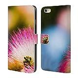 Head Case Designs Offizielle PLdesign Mimose Seiden Baum Blumen Und Blaetter Brieftasche Handyhülle aus Leder für iPhone 6 Plus/iPhone 6s Plus