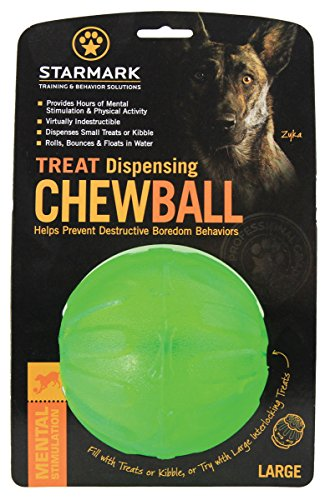 Starmark Treat Dispenser Chew Ball for Dogs