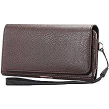 Lordwey® Funda 5.7-6.0inch universal teléfono móvil cinturón caso de la bolsa, horizontal cuero de la PU caja de la cartera de la cintura para el Samsung S8 Plus/Huawei Mate8/iPhone 7 Plus -marrón