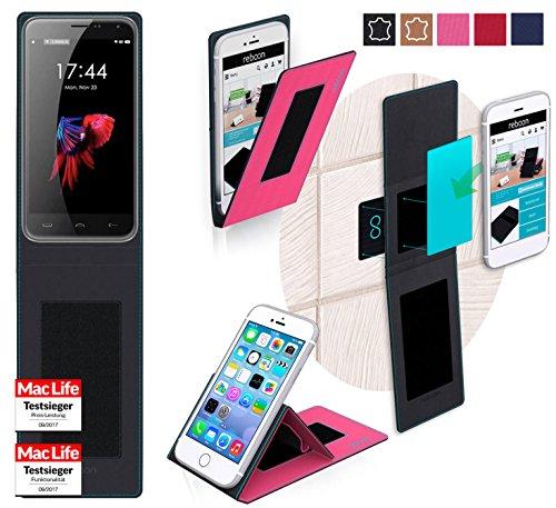 reboon Hülle für HomTom HT3 Pro Tasche Cover Case Bumper | Pink | Testsieger