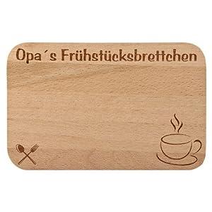 Frühstücksbrettchen / Frühstücksbrett mit Gravur für die Opa als Geschenk - aus Holz - Geschenkidee ideal zum Geburtstag oder zu Weihnachten