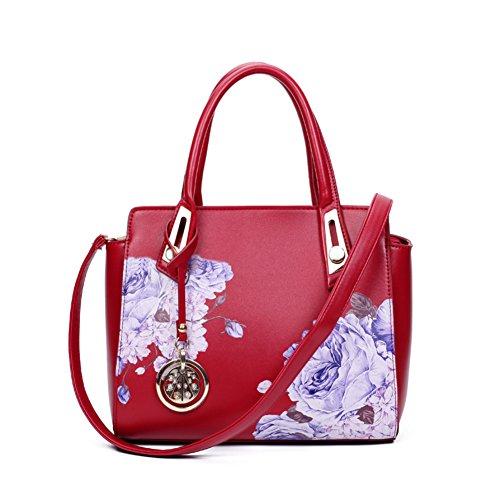 stampa bag/Retrò fiore peonia Pack/Borsa a tracolla/Ali di Magnolia-A A