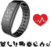fitness watch endubro® i7HR - fitness tracker con cardiofrequenzimetro impermeabile IP67 | contapassi | monitoraggio del sonno | notifiche chiamate e SMS/Whatsapp/Facebook