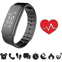 endubro Fitness Armband | Fitness Tracker | Aktivitätstracker | Smart Bracelet | Schrittzähler | Benachrichtigungen | Fitness Uhr Wasserdicht IP67 für Android und IOS