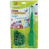 Magnetstab + 100Spielsteine für Bingo/ Tombola (grün)