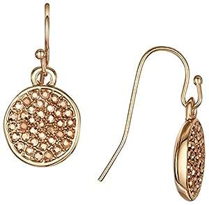 Buckley London–Boucles d'Oreilles Pendantes Femme–Laiton plaqué or cristal doré Taille ronde–430030013
