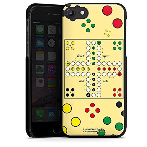 Apple iPhone X Silikon Hülle Case Schutzhülle Mensch ärger Dich nicht Spiel Spielbrett Hard Case schwarz