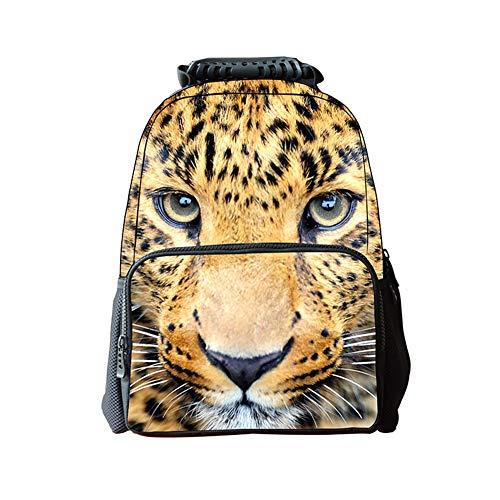 LAWLAI Kinder Rucksack 3D Druck Cheetah Schultasche Outdoor-Reise-Multifunktions-Taschen