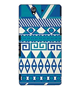 Fuson Designer Back Case Cover for Sony Xperia Z :: Sony Xperia ZC6603 :: Sony Xperia Z L36h C6602 :: Sony Xperia Z LTE, Sony Xperia Z HSPA+ (Blue Pattern Theme)