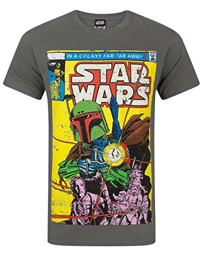 Official Star Wars Boba Fett Comic Men's T-Shirt (XL)