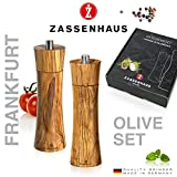 Zassenhaus Frankfurt 0000023046 Mill Set, Olive Wood, Brown, 6.2 x 22.4 x 25.8 cm