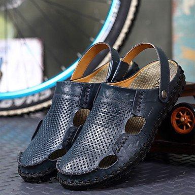 Slippers & amp da uomo;Estate Comfort PU all'aperto Sandali piatti con fibbia tacco sandali US9.5 / EU42 / UK8.5 / CN43