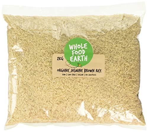 Wholefood Earth - Organic Jasmine Brown Rice - Raw - GMO Free - Vegan - No additives - 2kg