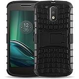 """Moto G4 / G4 Plus Hülle, JAMMYLIZARD [ ALLIGATOR ] Doppelschutz Outdoor-Hülle für Motorola Moto G4 / G4 Plus 5.5"""", SCHWARZ"""