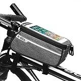 LIW Borsa da Bicicletta con Telaio, Custodia per Telefono Impermeabile per Bici Supporto da Bicicletta, Borsa per Manubrio Posteriore per Smartphone per Smartphone Fino a 6 ''