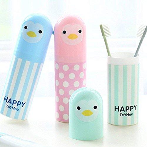 Ruiting porta spazzolino da viaggio Cup lovely spazzolino dentifricio Holder tazze di acqua, coppa Gargle set blu