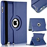 Shoppers Point Black iPad 360 Degree360 Degree Rotating Leather Case Cover Stand
