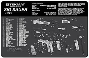 Tekmat Handgun Cleaning Mat With Imprint Sig Sauer P226