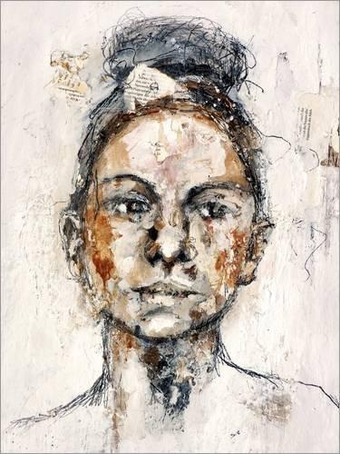 Poster 100 x 130 cm: Woman von Christin Lamade - hochwertiger Kunstdruck, Kunstposter