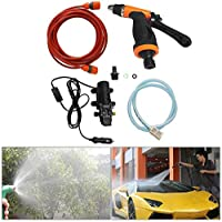 120 watt high pressure portable washing machine aC DC electric power Water Pump for car, wall, corridor, carpet, garden and more use.)
