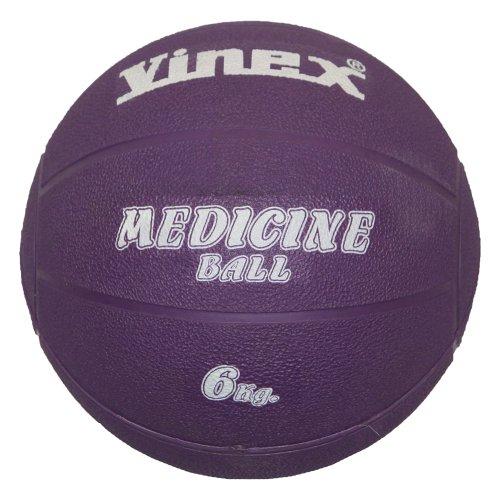 Boje Sport - Balón medicinal (caucho, 6 kg), color morado