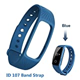 YiYunTE Fitness Tracker Silicone Replacement Strap - ID107 Smart Bracelet Smart Band Strap Replacement Watchbands Silicone Accessories For ID 107 Smartband
