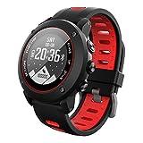 OOLIFENG GPS Deporte Reloj Inteligente, Fitness Tracker Con Altímetro Barómetro Brújula Pulsómetros IP68 Impermeable Digital Reloj Para Deportes Al Aire Libre,Red