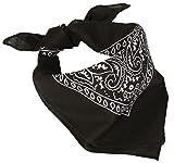 Bandana Kopftuch mit original Paisley Muster und weitere Farben Western Schwarz ca. 54x54 cm