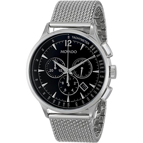 MOVADO CIRCA 0606803 GENTS 42MM SILVER STEEL BRACELET & CASE CHRONOGRAPH WATCH