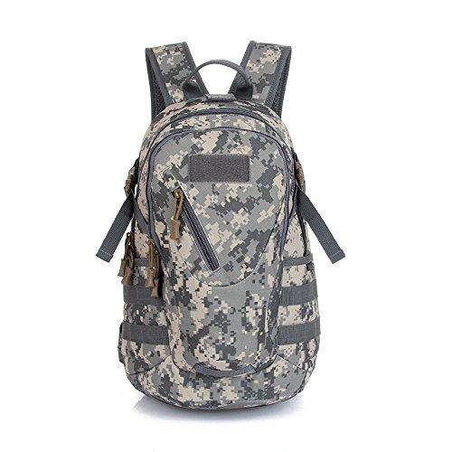 Lmeno Militärischer taktischer Rucksack Tarnung Militär Wanderrucksack Schüler Daypack Sportrucksack 900D nylon Schulterriemen Tasche Reisetasche für Outdoor Trekking Wandern Camping - ACU