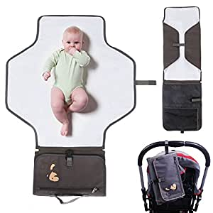 Intipal Portable Baby Diaper Changing Pad Mat Bag With