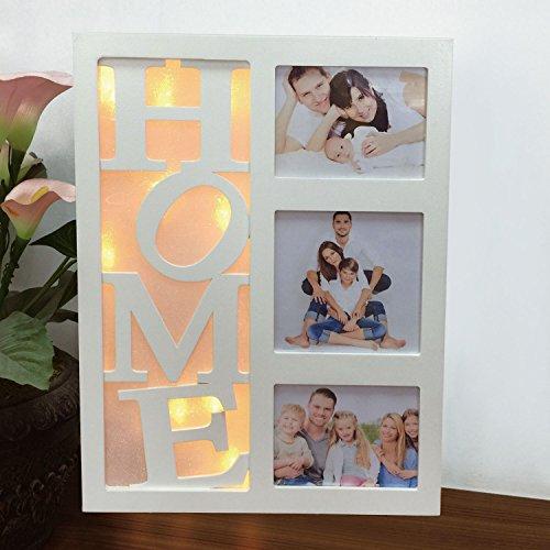 Sentik 10LED Blanc chaud Maison Amour Famille Multi Cadre photo de Noël Cadeau de Noël, Home