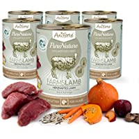 Comida Húmeda para Perros Sin Cereales | 88,2% Carne de Cordero Farms Lamb (6 x 400g) | Sin Granos Ni Conservantes | Dieta Barf | AniForte