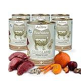 AniForte® PureNature Nassfutter 400g Farms Lamb Hundefutter- Naturprodukt für Hunde (Herzhaftes Lamm, 6x400g)