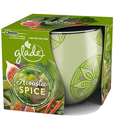 Glade (Brise) Duftkerze bis zu 30 Stunden Brenndauer, Duftkerze im Glas, Acoustic Spice, 1er Pack (1 x 120 g)