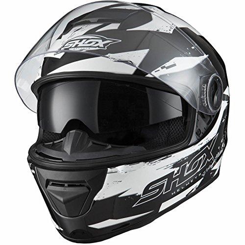 Shox Assault Trigger Motorrad Roller Helm L Schwarz/Weiß - 2