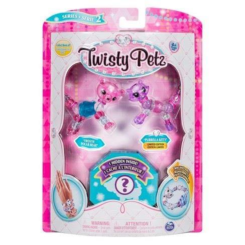 Twisty Petz - Serie 2 - 3er Pack - Frostie Eisbär und Purella Kitty (Bejeweled Kitty)
