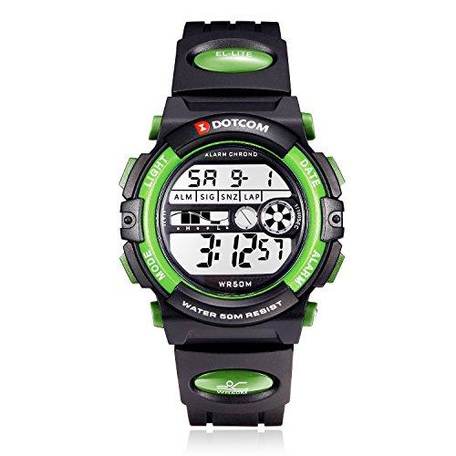 Socico Kinder Sport Digital Watch-Boys Kinder Teenager Elektronische Wasserdichte Outdoor Analoge Uhr mit Alarm, Multi-Funktions-Armbanduhren für Kinder (Drucken Sie Multi-schnalle)