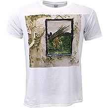 Led Zeppelin Iv Album Cover Weiß T-shirt Offiziell Zugelassen Musik