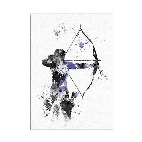 Demino EIN Krieger mit den Pfeil-Muster Abstrakt Stil Printed Unframed Leinwand Ölgemälde Kunst Zeichnungen A5:14.8 * 21cm -