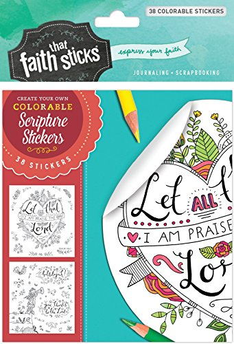 Psalm 103:2 Colorable Stickers (Faith That Sticks)