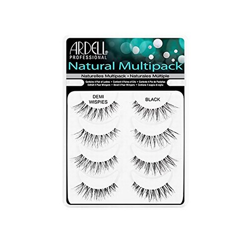 Ardell Lash Applikator (Ardell Demi Wispies Natural Multi Pack (4 Pairs) False Eyelashes Fake Lashes by Ardell)