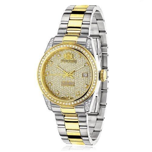 LUXURMAN 2484 - Reloj para mujeres, correa de acero inoxidable color plateado