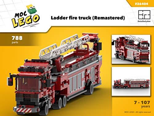 Ladder fire truck (Remastered): MOC LEGO (English Edition) (Ladder Fire Truck Spielzeug)
