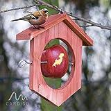 Gardigo Apfel Futterstation Meisenknödelhalter Futterhalter aus Holz