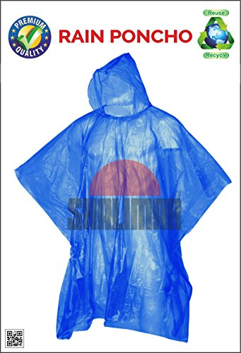 Shalimar Disposable Rain Poncho (Pack of 6)