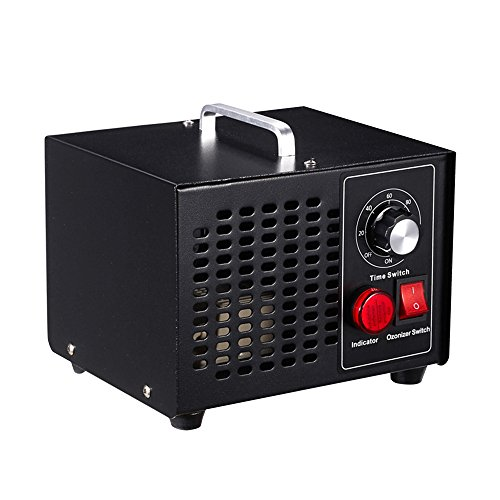 Vogvigo Generador Comercial de Ozono,para hogar 3500mg Industrial O3 Purificador de aire Desodorante de esterilización negro