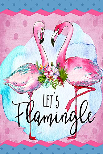 Lets's Flamingle Pool Party Strand Dekorative Flagge doppelseitig House 28 x 40 Inches Multi -